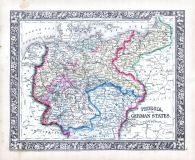 Prussia, and the German States, World Atlas 1864 Mitchells New General Atlas